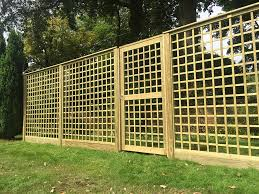 Trellis Panels Timber Commercial Fencing Jacksons Security Fencing
