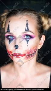 woman with clown makeup