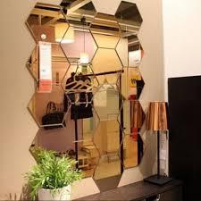 12pcs 3d Mirror Hexagon Vinyl Removable Wall Sticker Decal Home Decor Art For Sale Online Ebay