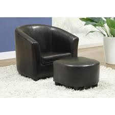 Monarch Specialties Dark Brown Kids Chair With Ottoman I 8103 The Home Depot
