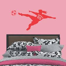 Personalized Girls Name With Number Football Soccer Ball Vinyl Wall Decals Art Wall Stickers For Kids Rooms Decoration Custom Wall Stickers Customized Wall Decals From Flylife 8 05 Dhgate Com