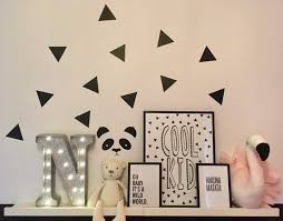 Triangle Shape Wall Stickers Triangle Decals Kids Room Wall Etsy