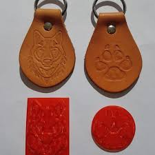 3d printing models wolf leather stamp