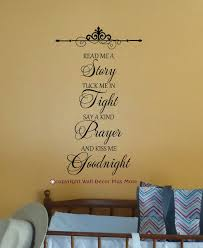 Read Me A Story Kiss Me Goodnight Wall Decal Stickers Letters For Nursery Wall Decor