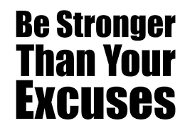 Be Stronger Than Your Excuses Motivational Gym Wall Decal Etsy