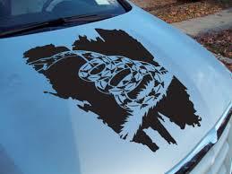 Buy Hood Gadsden Flag Usa Snake Don T Tread Me South Rebel Vinyl Decal Car Any Color