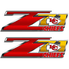 Chiefs Z71 Truck Decals Chevy Silverado Kansas City Nfl Sticker