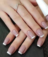 white tips on light pink nail designs