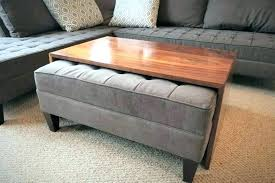 secret mini bluish square upholstered