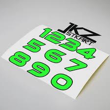 Jkz Stkart Vinyl Die Cut Double Layer Number Sticker Neon Fluorescent Green Decal For Car Motor Bike Truck Laptop Helmet Car Stickers Aliexpress