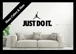 Nike Just Do It Michael Jordan Wall Decal Sport Team Mural Vinyl Decor Sticker Ebay