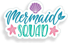 Amazon Com Mermaid Squad Sticker Cup Cooler Laptop Car Vehicle Window Bumper Vinyl Decal Graphic Everything Else