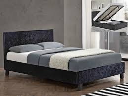 beds white king size bed frame with