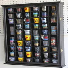 display case holder cabinet wall rack w