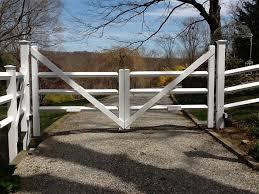 Custom Cedar Driveway Gate Traditional Landscape New York By Riverside Fence