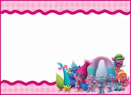Trolls Invitation Template Invitations Online Fiesta De