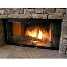 heatilator fireplace doors black 42