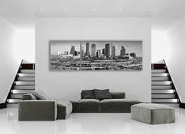 Houston Texas City Skyline Panoramic 4 Canvas Print Art Home Decor Wall Art 28 74 Picclick