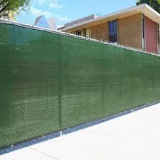 Home Aesthetics 6 X 50 Fence Windscreen Privacy Screen Shade Cover Fabric Mesh Tarp Green