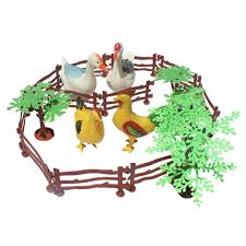Gazechimp 19 Pieces Plastic Farm Animals Toy Playset With Tree Fences Collectibles Gift Lazada Ph