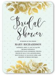 pretty bridal shower invitation