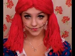 rag doll halloween makeup you