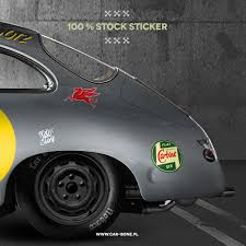 100 Stock Sticker Car Bone Pl
