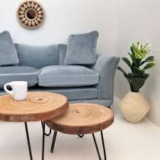 modern dollhouse overlapping coffee tables