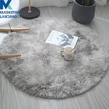 Fluffy Round Light Grey Rug Carpets For Living Room Decor Faux Fur Carpet Kids Room Long Plush Rugs For Bedroom Shaggy Area Rug Buy At The Price Of 6 60 In Aliexpress Com