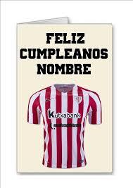 Tarjeta De Cumpleanos Del Equipo De Futbol De Athletic Bilbao