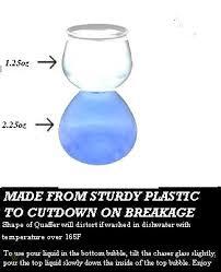 quaffer glasses double bubble shot