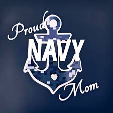 Proud Navy Mom Decal Navy Mom Car Decal Navy Decal Navy Etsy