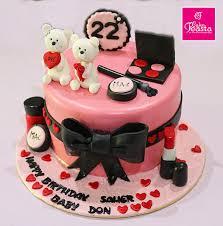makeup teddy bear birthday cake