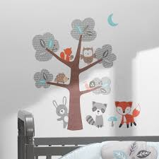 Woodland Friends Forest Animals With Tree Wall Decals