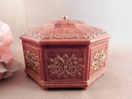 box 8 sided crown top mirrored storage