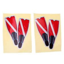 2pcs Scuba Diving Dive Flag Fins Sticker Decal For Swim Boat Car Wall Window For Sale Picclick