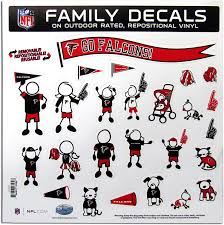 Amazon Com Nfl Siskiyou Sports Fan Shop Atlanta Falcons Family Decal Set Large One Size Team Color Sports Fan Decals Sports Outdoors