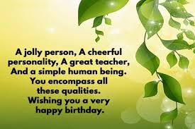 special birthday quotes for teacher funpro