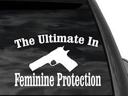 Ladies Pro Gun Second Amendment Decal 12 X 7 Gs14 Car Truck Suv Rifle Or Gun Case Family Graphix Llc