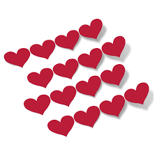 Red Hearts Vinyl Wall Decals
