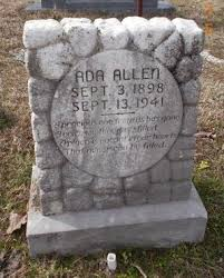 WARD ALLEN, ADA - Montgomery County, Arkansas | ADA WARD ALLEN - Arkansas  Gravestone Photos
