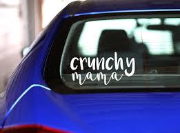 Crunchy Mama Car Decal Etsy Car Car Decals Custom Items