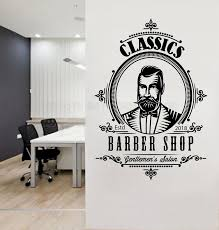 Removable Barber Shop Wall Decal Gentlemen S Salon Men Hair Salon Wall Window Sticker Personalized Year Haircut Decal Logo Y148 Wall Stickers Aliexpress
