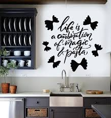 Vinyl Wall Decal Pasta Italian Restaurant Kitchen Quote Words Stickers Wallstickers4you