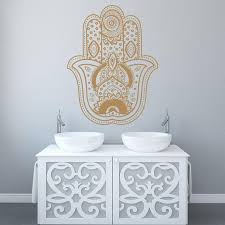 Gold Wall Decal Vinyl Mandala Mudra Decal Indian Ornament Etsy
