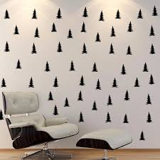 Peel Stick Pine Tree Patterned Wall Decal Black Tree School Office Nursery Living Room Kid S Bed Room Kitchen Dining Decor 500 Wall Decals Decoration Patternbed Room Aliexpress