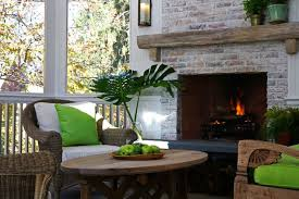 enclosed patio with fireplace design ideas