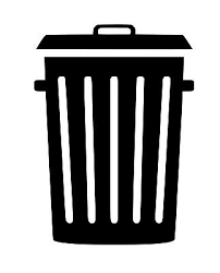 Trash Can Vinyl Sticker Decal Waste Recycle Choose Size Color Ebay