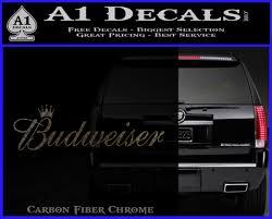 Budweiser King Of Beers Logo Vinyl Decal Sticker A1 Decals