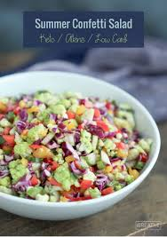 summer confetti salad low carb and